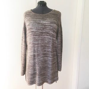 Ellen Tracy Marled Coco Brown Sweater Dress